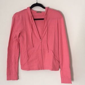 J Crew pink hoodie